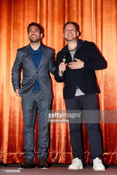 Elyas M'Barek and Marco Kreuzpaintner during the Der Fall Collini premiere at Astor Filmlounge Hafen City on April 13 2019 in Hamburg Germany