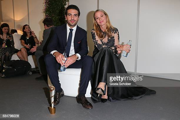 Elyas M'Barek and Nadeshda Brennicke during the winners board of the Lola - German Film Award 2016 on May 27, 2016 in Berlin, Germany.