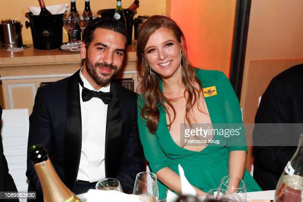 Elyas M'Barek and Nina Eichinger during the 46th German Film Ball at Hotel Bayerischer Hof on January 26 2019 in Munich Germany