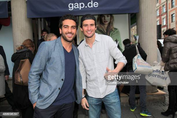 Elyas M'Barek and Tom Beck attend the GAP PopUp Shop Opening on May 7 2014 in Munich Germany