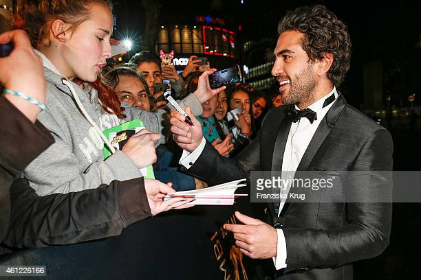 Elyas M'Barek arrives at the Bambi Awards 2014 on November 13 2014 in Berlin Germany