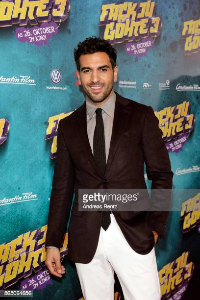 Elyas M'Barek attends the 'Fack ju Goehte 3' premiere at Mathaeser Filmpalast on October 22 2017 in Munich Germany