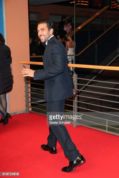 Elyas M'Barek attends the Opening Ceremony 'Isle of Dogs' premiere during the 68th Berlinale International Film Festival Berlin at Berlinale Palace...