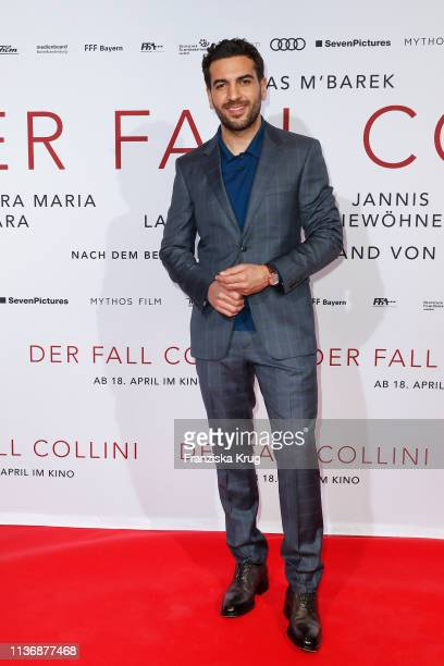 Elyas M'Barek during the Der Fall Collini premiere at Astor Filmlounge Hafen City on April 13 2019 in Hamburg Germany