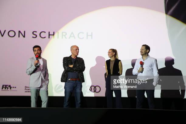 Elyas M'Barek Heiner Lauterbach Pia Stutenstein Marco Kreuzpaintner attend the Der Fall Collini premiere at Cinedome on April 18 2019 in Cologne...