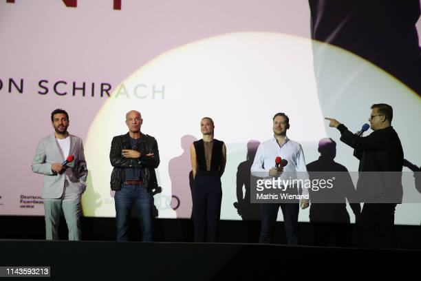 Elyas M'Barek Heiner Lauterbach Pia Stutenstein Marco Kreuzpaintner Thorsten Koch attend the Der Fall Collini premiere at Cinedome on April 18 2019...