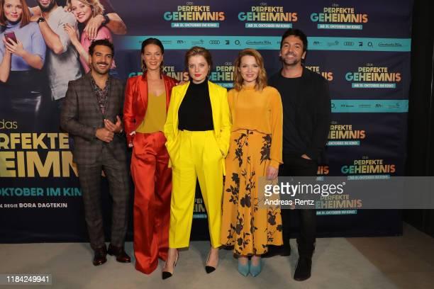 Elyas M'Barek Jessica Schwarz Jella Haase Karoline Herfurth and Director Bora Dagtekin attend the premiere of Das perfekte Geheimnis at Astor...