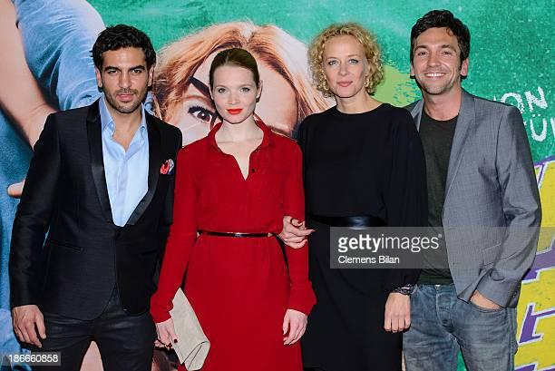 Elyas M'Barek Karoline Herfurth Katja Riemann and Bora Dagtekin attend the 'Fack Ju Gohte' Berlin Premiere at CineStar on November 2 2013 in Berlin...