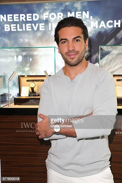Elyas M'Barek presents the three new 'IWC Ingenieur' special edition at bar Paisano on July 19, 2016 in Munich, Germany.