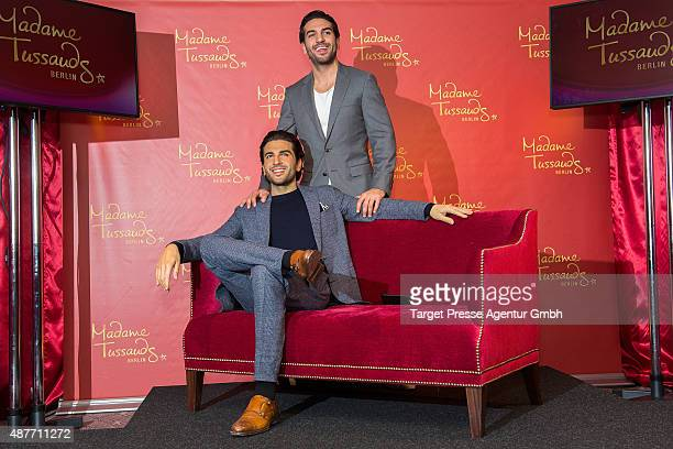 Elyas M'Barek unveils his wax figure for Madame Tussauds at Hilton Hotel on September 11 2015 in Berlin Germany