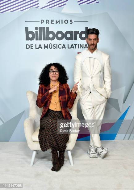 Elyfer Torres and Erick Elías attend the 2019 Billboard Latin Music Awards at the Mandalay Bay Events Center on April 25, 2019 in Las Vegas, Nevada.