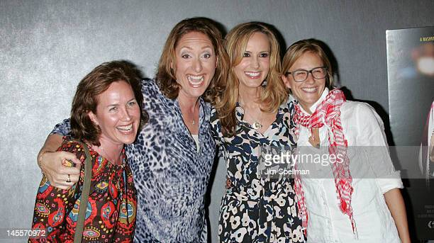 Elysa Halpern Judy Gold Chely Wright and Lauren Blitzer attend the Chely Wright Wish Me Away premiere at the Quad Cinema on June 1 2012 in New York...
