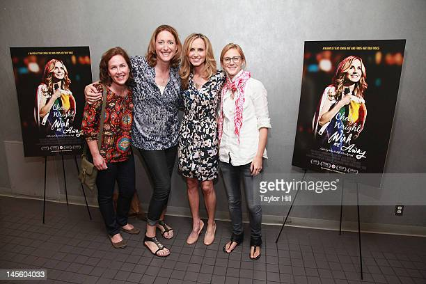 Elysa Halpern wife comedian Judy Gold Chely Wright and wife Lauren Blitzer attend the Chely Wright Wish Me Away New York Screening at Quad Cinema on...