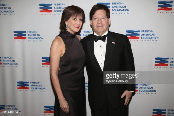 Elyse Borne and Gary Cole attend French American Foundation Annual Gala 2017 at Gotham Hall on November 28 2017 in New York City