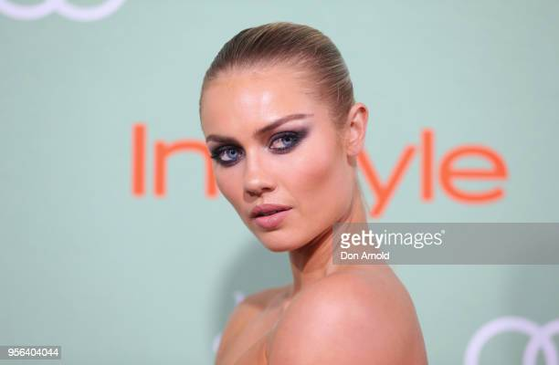 Elyse Knowles arrives ahead of the Women of Style Awards at Museum of Contemporary Art on May 9 2018 in Sydney Australia