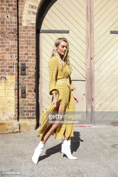 Elyse Knowles at Mercedes-Benz Fashion Week Resort 20 Collections on May 14, 2019 in Sydney, Australia.