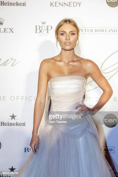Elyse Knowles attends the Glamour on The Grid Party at Albert Park on March 21 2018 in Melbourne Australia