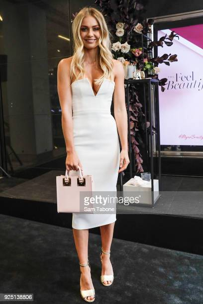 Elyse Knowles attends the Myer Beauty Campaign Launch Beauty Brunch on February 28 2018 in Melbourne Australia