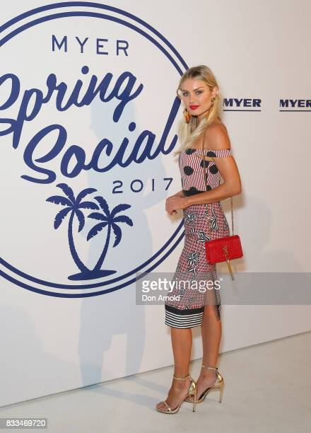 Elyse Knowles attends the Myer 'Spring Social' Night Event at Bronte Surf Life Club on August 17 2017 in Sydney Australia