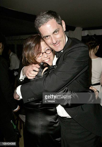 Elyse Scherz and John Lesher during 2004 Cannes Film Festival Motorcycle Diaries Party at La Plage Coste in Cannes France