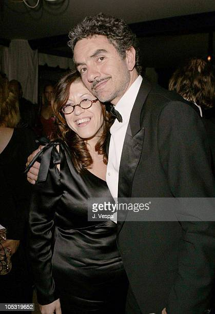 Elyse Scherz and Sergio Yazbek during 2004 Cannes Film Festival Motorcycle Diaries Party at La Plage Coste in Cannes France