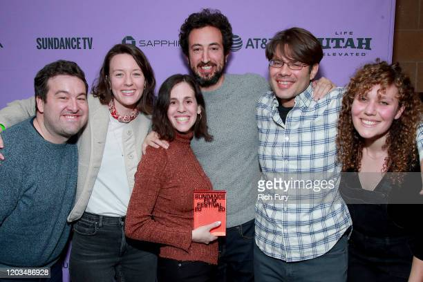 Elyse Steinberg Josh Kriegman and Eli Despres attends the 2020 Sundance Film Festival Awards Night Ceremony at Basin Recreation Field House on...