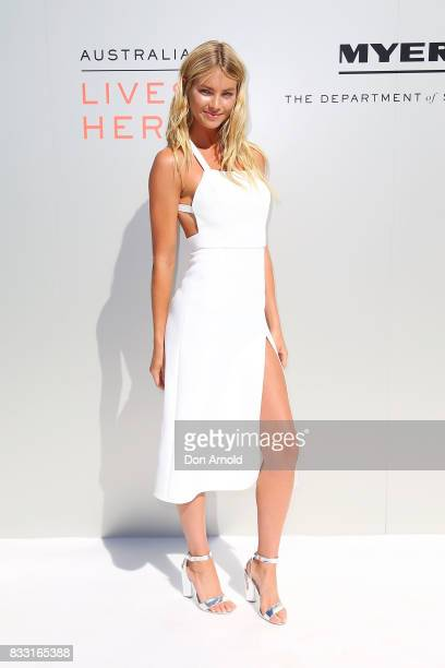 Elyse Taylor at the Myer Spring 2017 Fashion Launch on August 17 2017 in Sydney Australia