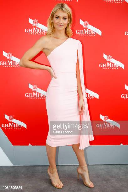 Elyse Taylor attends the Mumm Marquee on Oaks Day at Flemington Racecourse on November 08 2018 in Melbourne Australia