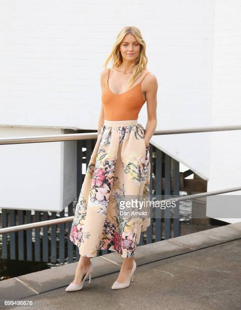 Elyse Taylor attends the Nude by Nature Flawless Collection Launch on June 22 2017 in Sydney Australia