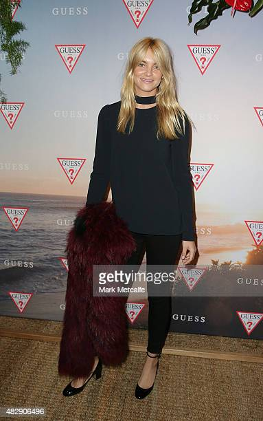 Elyse Taylor poses during the launch of the Guess Spring 2015 Collection at The Butler in Potts Point on August 4 2015 in Sydney Australia