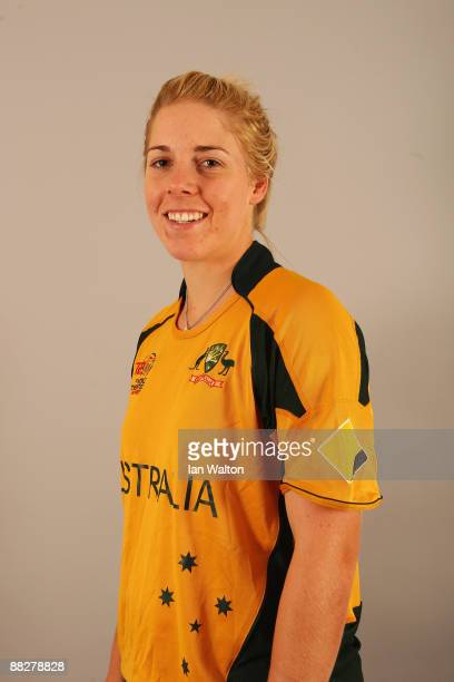 Elyse Villani of Australia poses for a portrait prior to the ICC Womens World Twenty20 at Holiday Inn Express on June 7 2009 in Taunton England