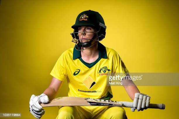 Elyse Villani poses during the Cricket Australia Women's National Squad Player Camp on September 13 2018 in Sydney Australia