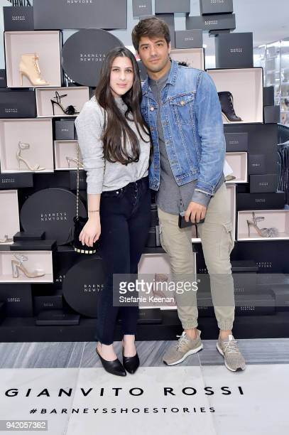 Elyse Winter and Hector Blanes attend Georgie Flores Nicole Yoone Zolee Griggs and Barneys New York Celebrate #BarneysShoeStories at Barneys New York...