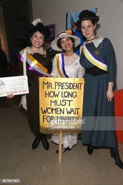 Elysia Segal Raissa Bretana and Marci Reaven Tamara Mcay attend DiMenna Children's History Museum Family Benefit Party 2018 on January 20 2018 in New...