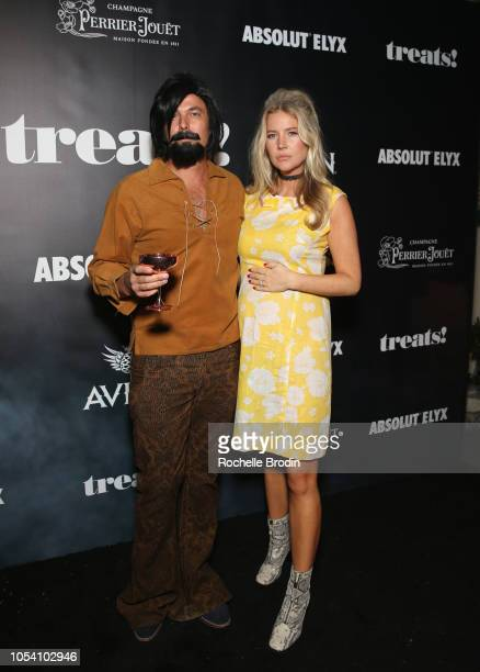 Elyx CEO Jonas Tahlin and Janina Boss Tahlin arrive at the The 8th Annual Trick or treats Halloween party at the private residence of Jonas Tahlin...