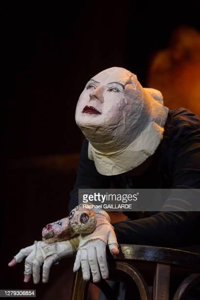 Elzbieta Jeznach lors de la remise des Topor d'Or 2018, événement conçu et réalisé par Jean Michel Ribes, prix de l'inattendu du spectacle vivant au...