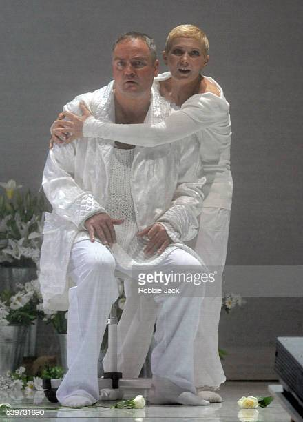 """Elzbieta Szmytka and Andrzej Dobber performs in the Mariinsky Opera Company's production """"Krol Roger"""" at the Festival Theatre in Edinburgh."""