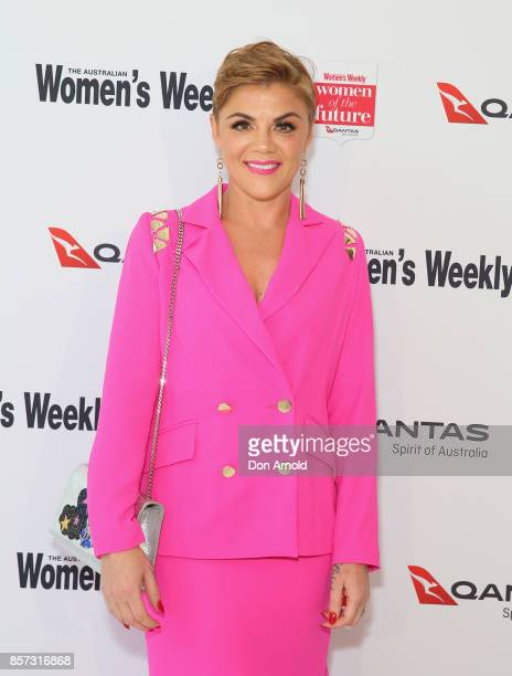 Em Rusciano arrives ahead of the annual Women of the Future awards on October 4 2017 in Sydney Australia