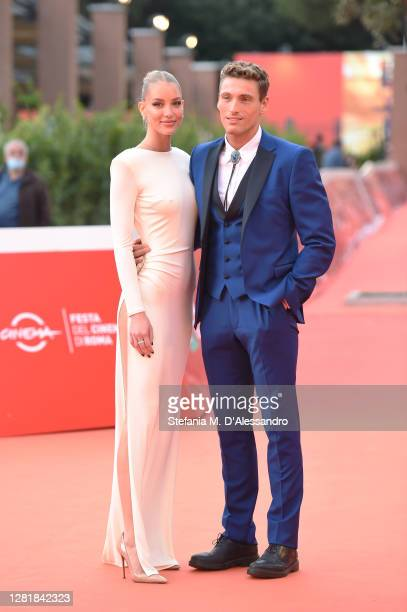 Ema Kovac and Gennaro Lillio attend the red carpet of the movie Borat during the 15th Rome Film Festival on October 23 2020 in Rome Italy