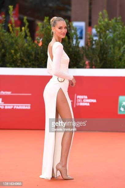 """Ema Kovac attends the red carpet of the movie """"Borat"""" during the 15th Rome Film Festival on October 23, 2020 in Rome, Italy."""
