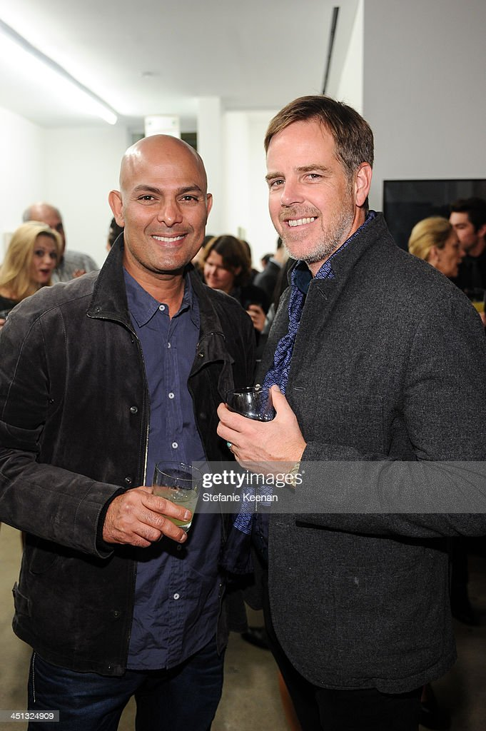 Emad Ghobrial and Jeff Ellermeyer attend The Rema Hort Mann Foundation LA Artist Initiative Benefit Auction on November 21, 2013 in Los Angeles, California.