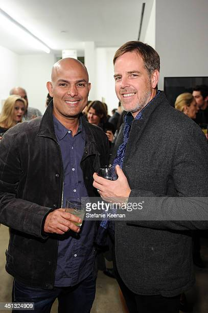 Emad Ghobrial and Jeff Ellermeyer attend The Rema Hort Mann Foundation LA Artist Initiative Benefit Auction on November 21 2013 in Los Angeles...