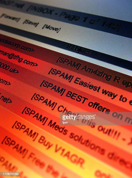 email spam 4 (closest) - e mail stockfoto's en -beelden