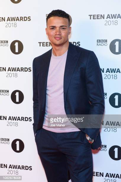 emaine Jenas arrives at the BBC Radio 1 Teen Awards at SSE Arena on October 21 2018 in London England