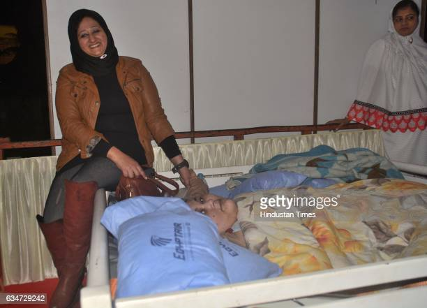 Eman Ahmed World's heaviest woman from Egypt with her sister arrives on Saturday morning ahead of a bariatric surgery as she is scheduled to undergo...