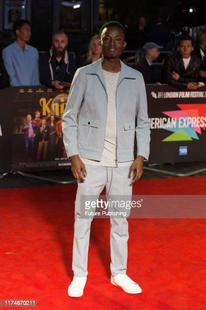 Eman Kellam attends the European film premiere of 'Knives Out' at Odeon Luxe Leicester Square during the 63rd BFI London Film Festival American...