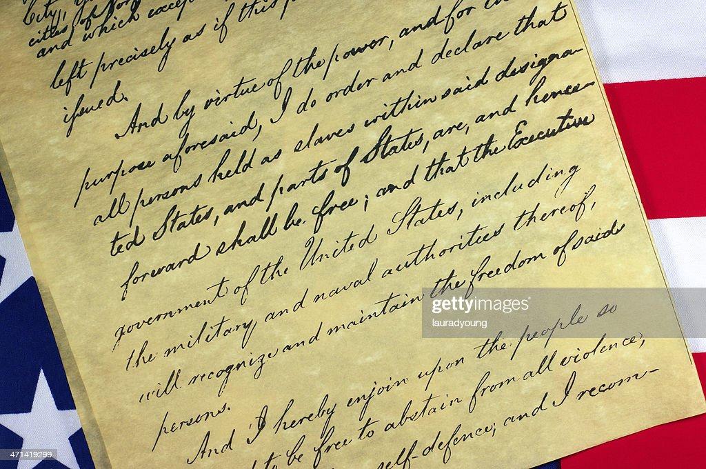 Emancipation Proclamation Document : Stock Photo