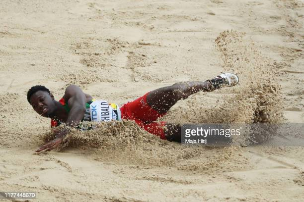 Emanuel Archibald of Guyana competes in the Men's Long Jump qualification during day one of 17th IAAF World Athletics Championships Doha 2019 at...