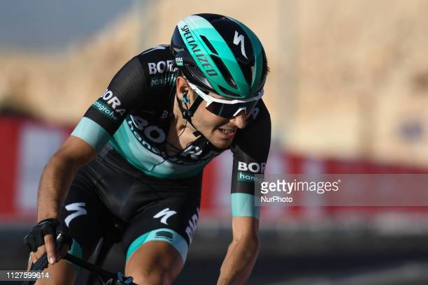 Emanuel Buchmann of Germany and BORA Hansgrohe Team finishing the third stage of UAE Tour 2019 the Department of Transport stage a 179km with a start...