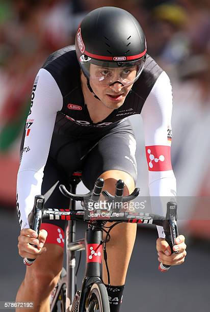 Emanuel Buchmann of Germany and BoraArgon 18 in action during stage 18 of the Tour de France 2016 a time trial of 17km between Sallanches and Megeve...